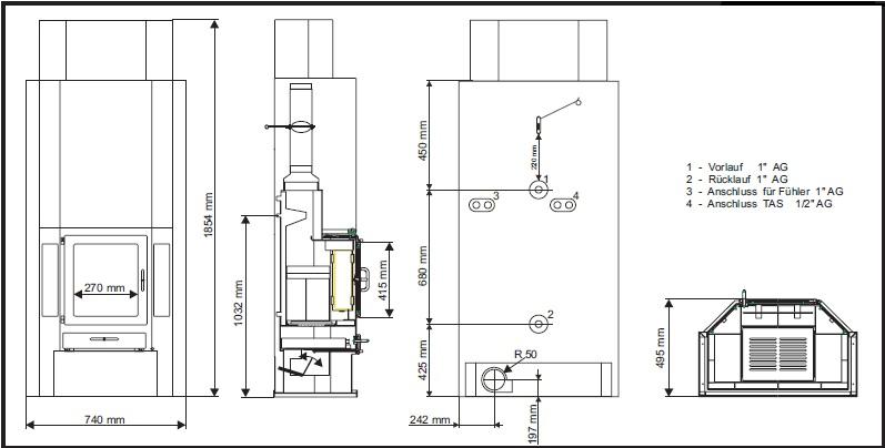 wasserfuehrender kaminofen diplomat 11xbs 14 5kw einsashop. Black Bedroom Furniture Sets. Home Design Ideas